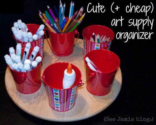 Cute & Cheap Art Supply Organizer