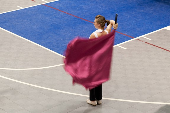 Lindsey in Color Guard