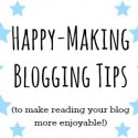 happy blogging tips