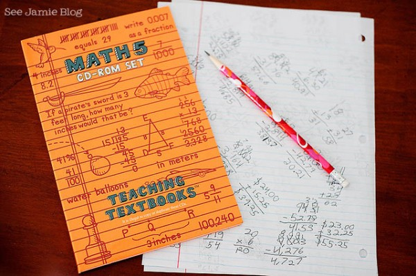 Teaching Textbooks Math Curriculum Review | See Jamie blog