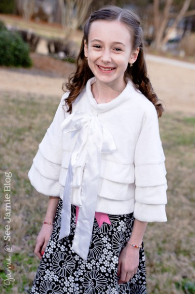 Kathryn - dressed up for the Father Daughter Dance 2012