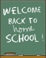 welcome back to HOMEschool chalkboard