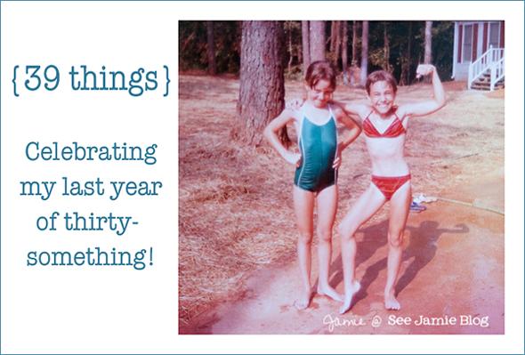 Celebrating 39 things