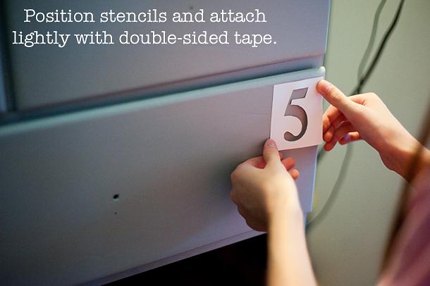 attaching stencils
