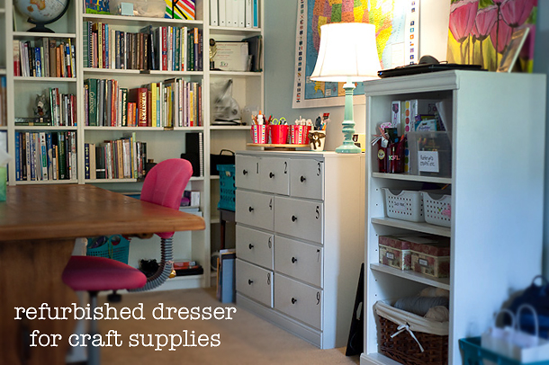 craft supply chest of drawers
