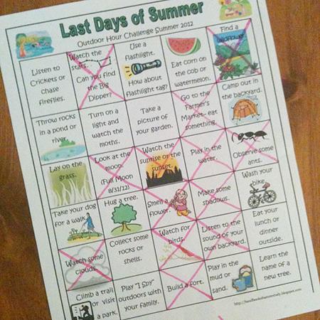 last days of summer nature study