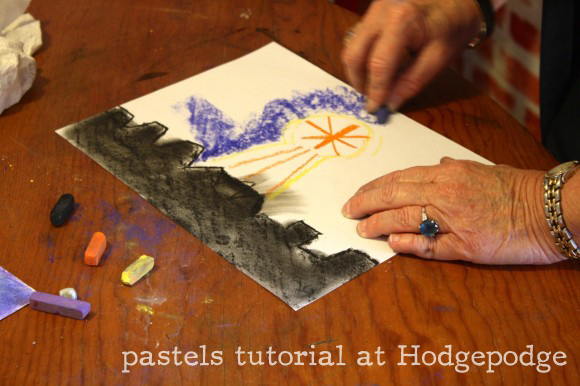 pastels tutorial from Hodgepodge