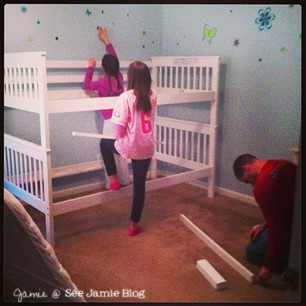 putting together bunk beds