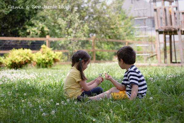 kids in grass