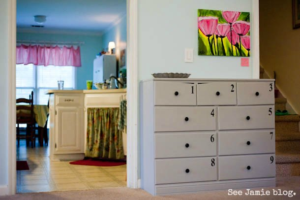 Homeschool Room Craft Cabinet