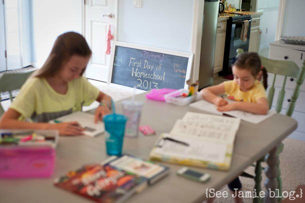 homeschool tablework