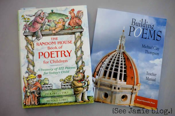 Homeschool Poetry books