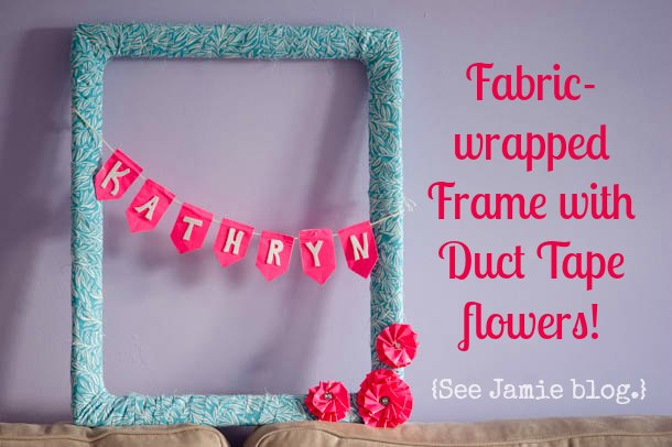 Fabric Wrapped Frame at seejamieblog.com