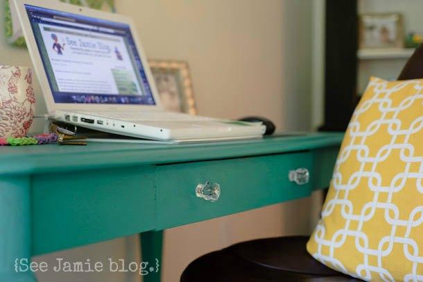 Florence teal desk