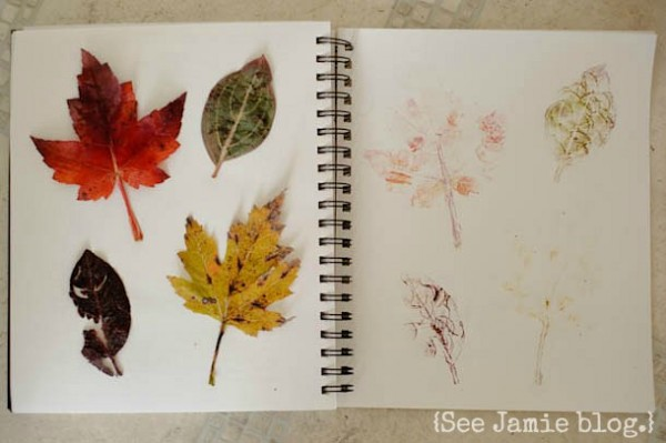 Hammered leaf journal page