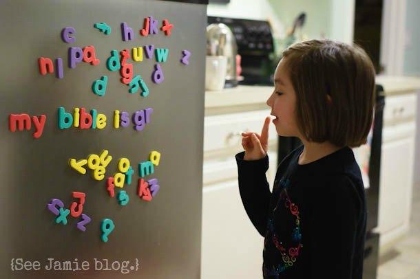 magnetic letter spelling
