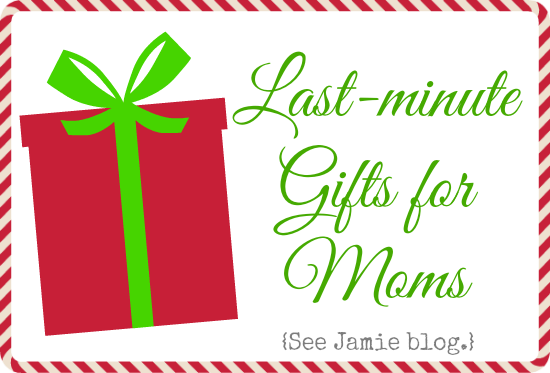 Last minute christmas gift ideas for moms see jamie blog Christmas ideas for your mom