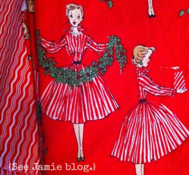 retro hostess fabric