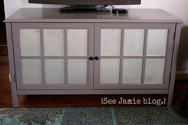 painted glass cabinet doors