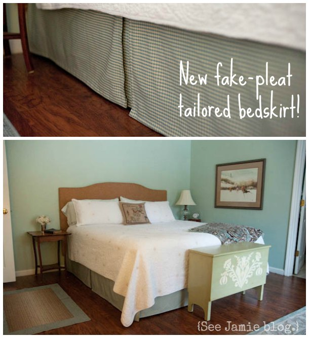 homemade tailored bedskirt