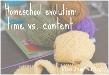 homeschool time vs content