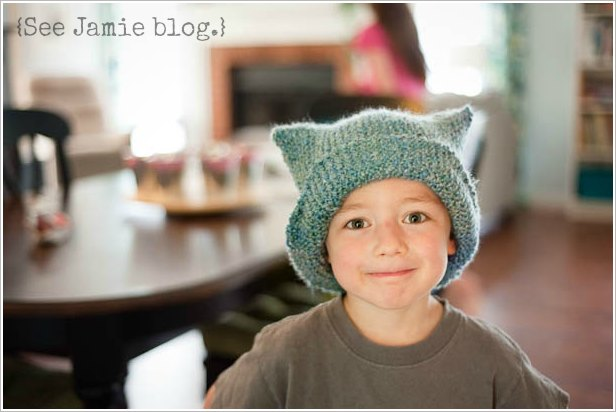 boy in knit hat