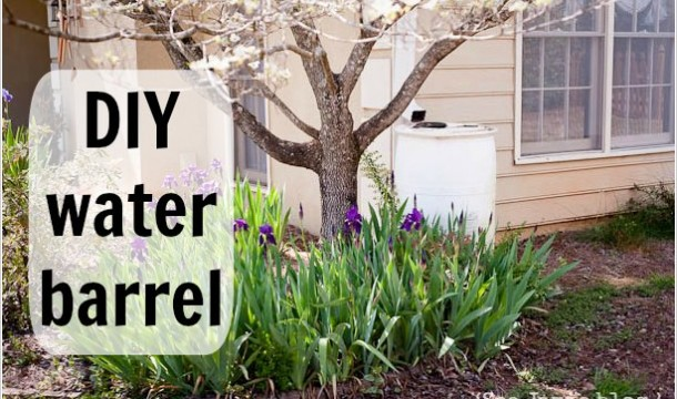diy water barrel - See Jamie blog