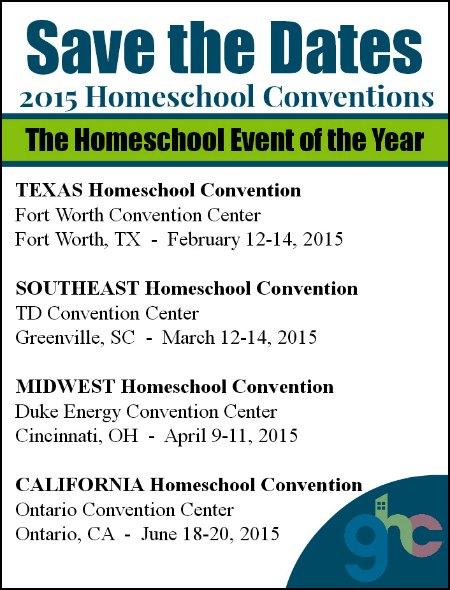 2015 Homeschool Conventions Dates and Locations