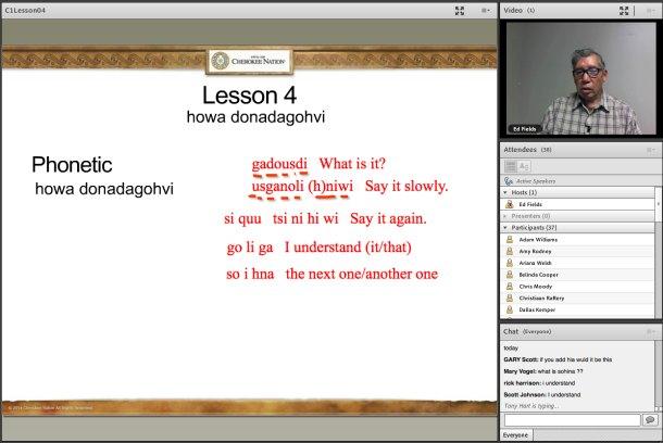Cherokee online language class