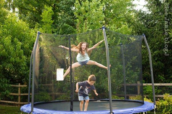 summertime trampoline