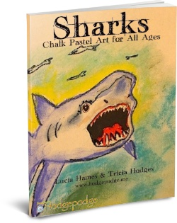shark art chalk pastel tutorials