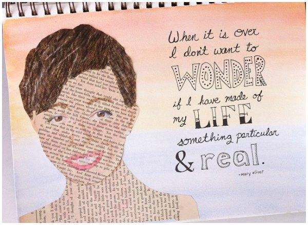 self portrait art journal page