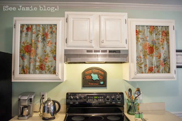 DIY custom painted kitchen cabinets