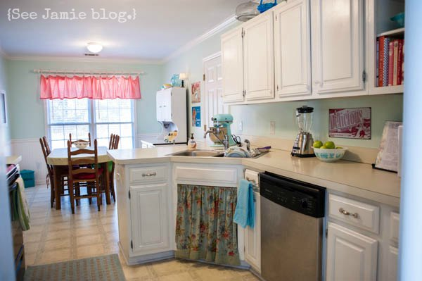 DIY Painted Kitchen Cabinets | See Jamie blog