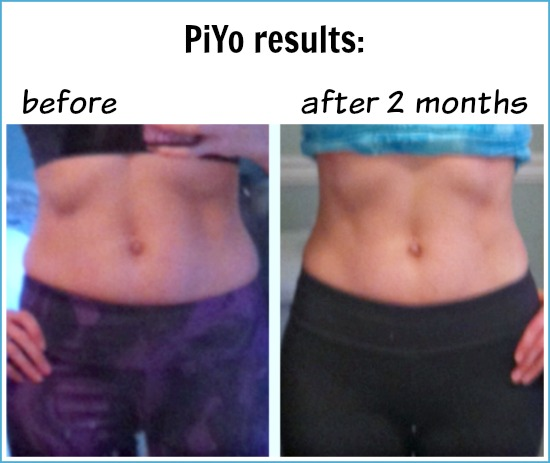 Piyo before after