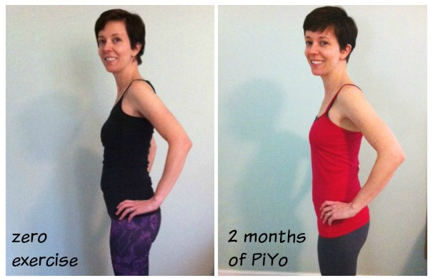 before after PiYo workout program
