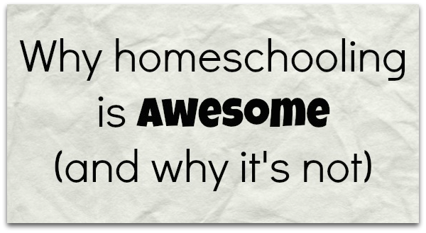 Homeschooling is awesome. (Except when it's not.)