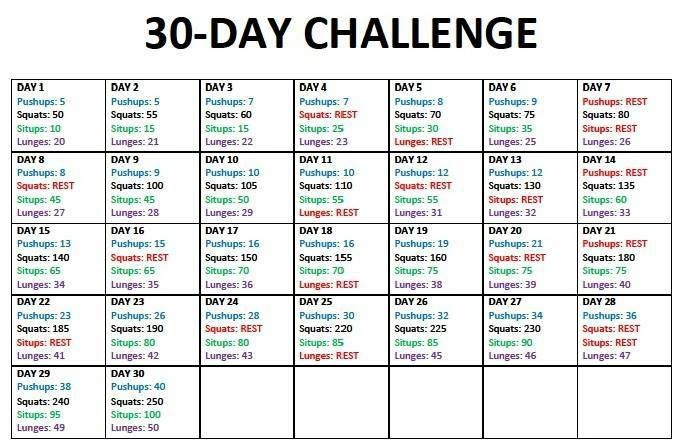 30-Day do-anywhere fitness challenge | See Jamie blog