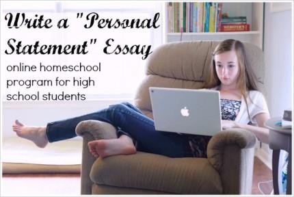 personal statement essay program for high schoolers