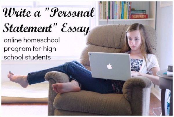 High school writing: Personal Statement essay