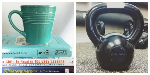 homeschool planning + kettlebells