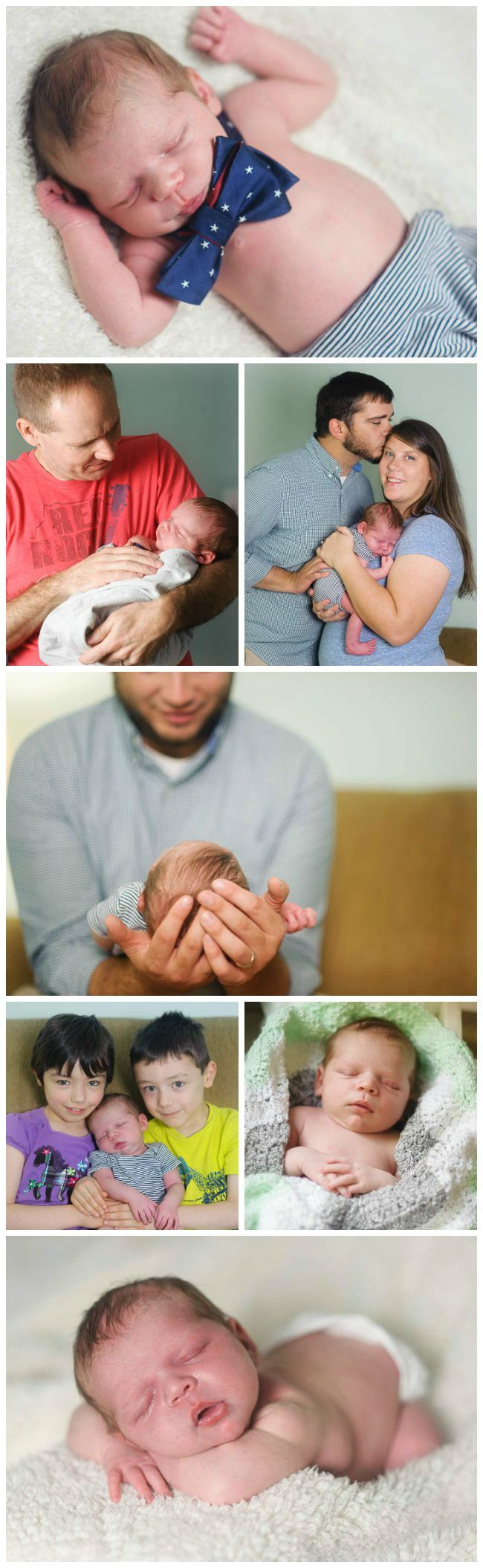Carter newborn photo collage