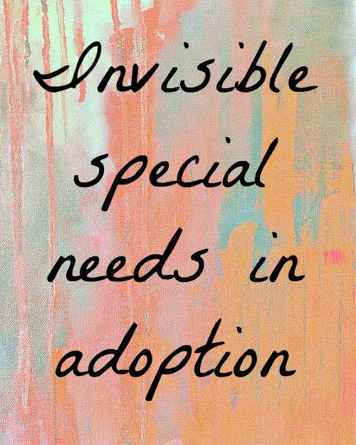 invisible special needs in adoption at seejamieblog.com