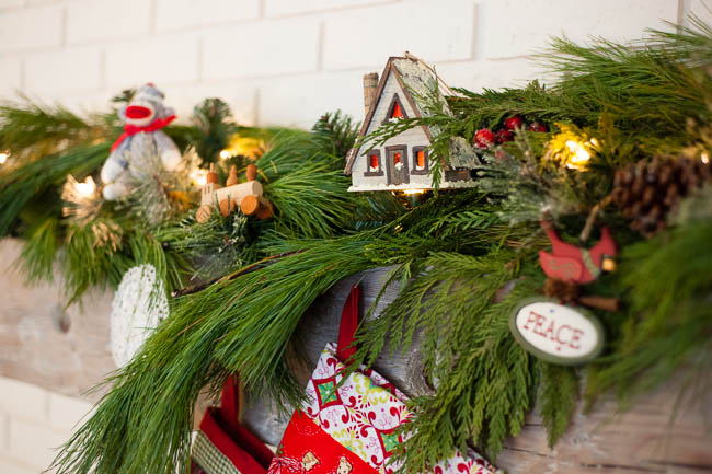 Christmas decor mantle ornaments