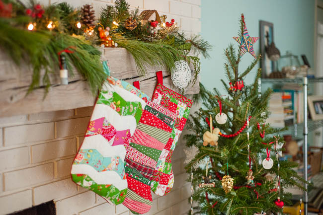Christmas tour hand quilted stockings