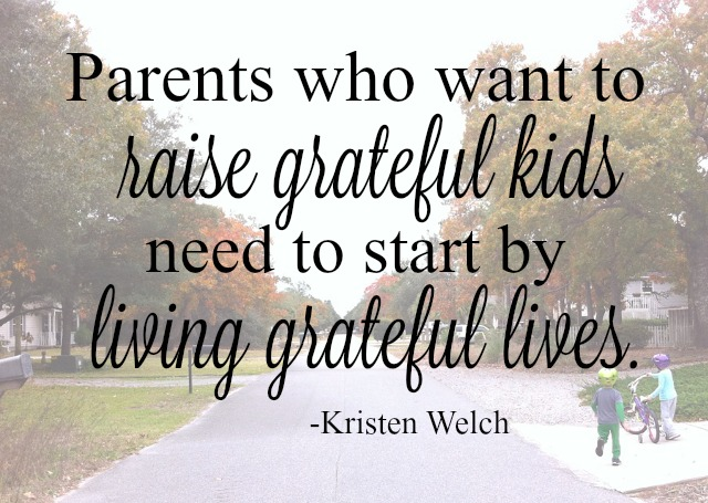 Cultivating gratitude in our family