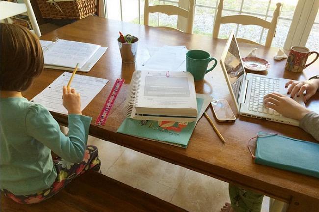 homeschool table