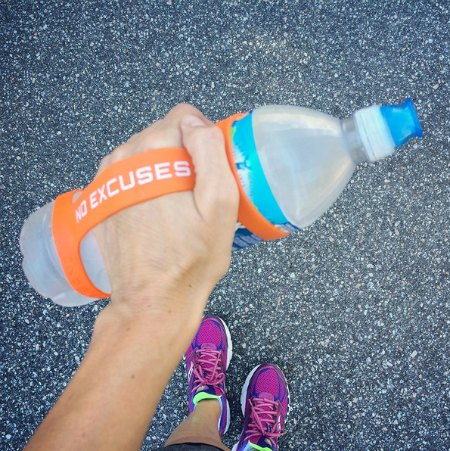 no excuses water while running