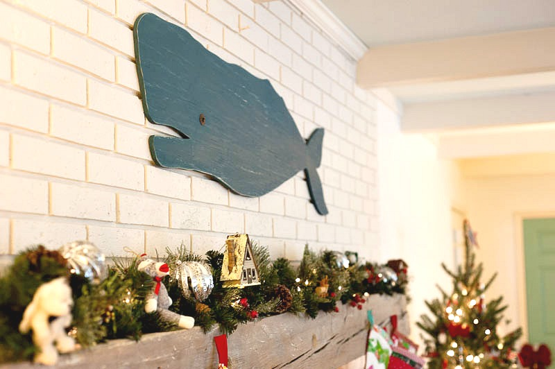 Christmas 2016 wooden whale