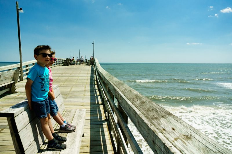 kids on the fishing pier